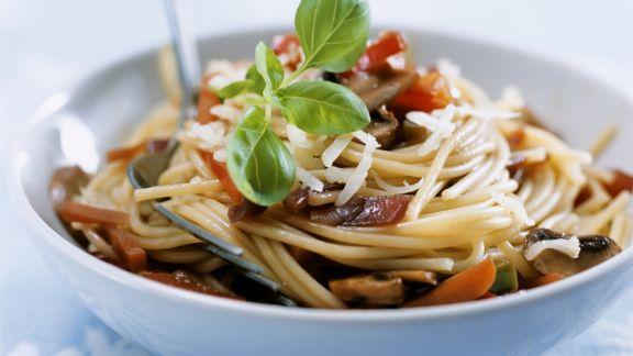 Rezept: Pasta mit Pilzen und Gemüse