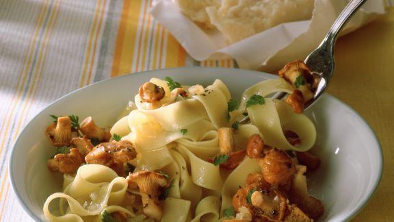 Rezept: Pasta mit Pilzsoße