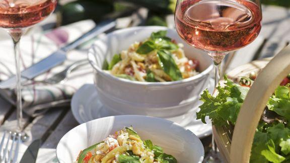 Rezept: Pasta mit Ricotta und Gemüse