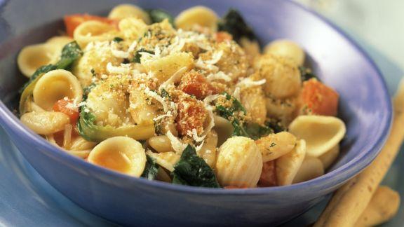 Rezept: Pasta mit Rucola und Tomaten
