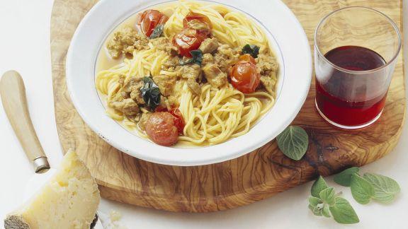 Rezept: Pasta mit Safran-Lamm-Soße