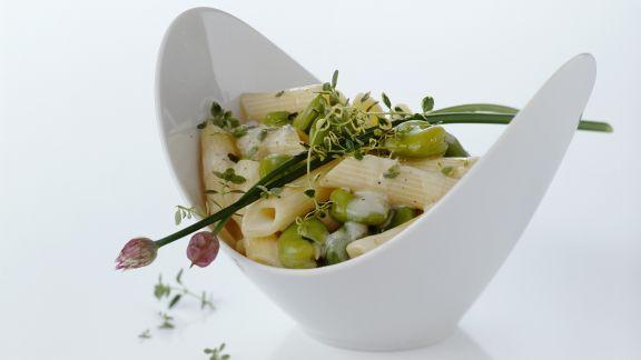 Rezept: Pasta mit Saubohnen und Ricotta