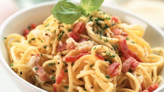 Rezept: Pasta mit Speck