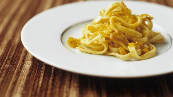 Rezept: Pasta mit Stockfisch und Safransoße