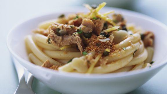 Rezept: Pasta mit Thunfisch-Zitronen-Soße