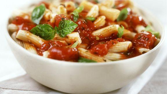 Rezept: Pasta mit Tomaten-Basilikum-Sauce