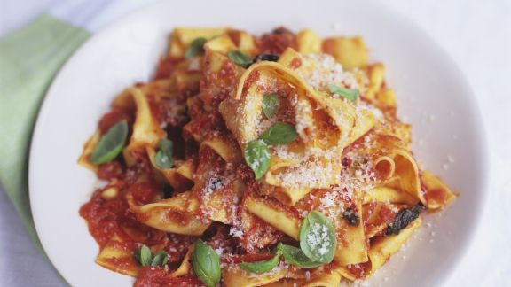 Rezept: Pasta mit Tomaten-Paprika-Sauce