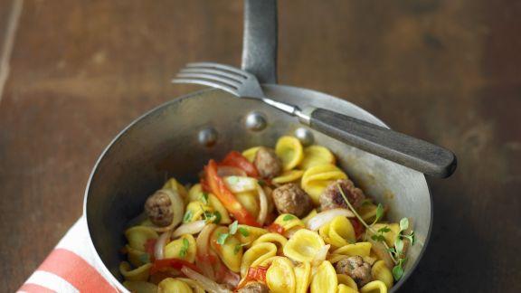 Rezept: Pasta mit Tomaten-Salsiccia-Soße