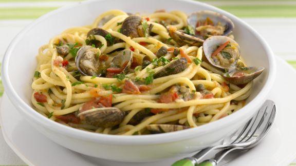Rezept: Pasta mit Venusmuscheln