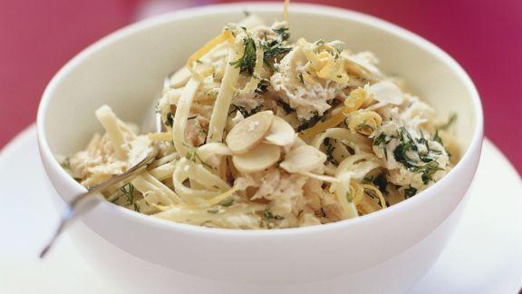Rezept: Pasta mit Zitrone und Thunfisch