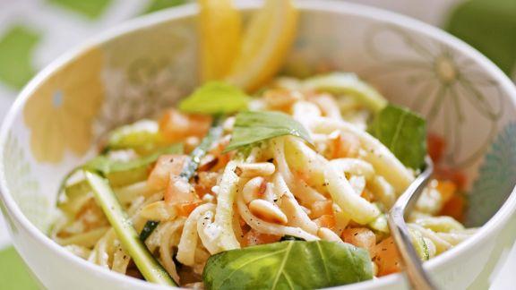 Rezept: Pasta mit Zucchini und Zitronensauce