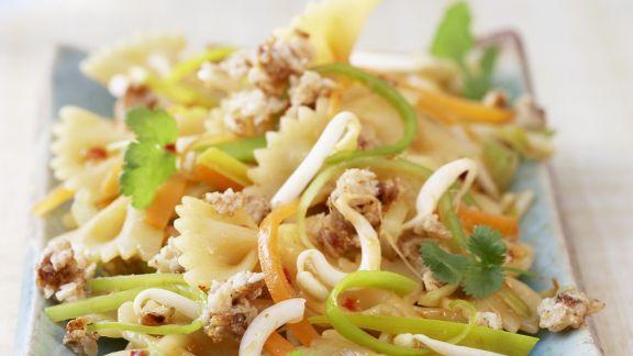 Rezept: Pastasalat auf asiatische Art
