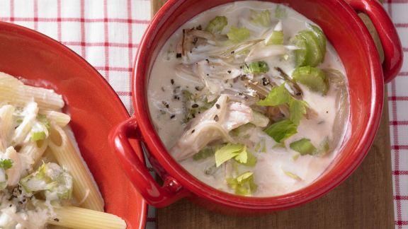 Rezept: Pastasauce mit Sellerie, Meerrettich