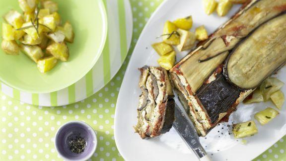 Rezept: Pastete mit Auberginen und Rosmarinkartoffeln