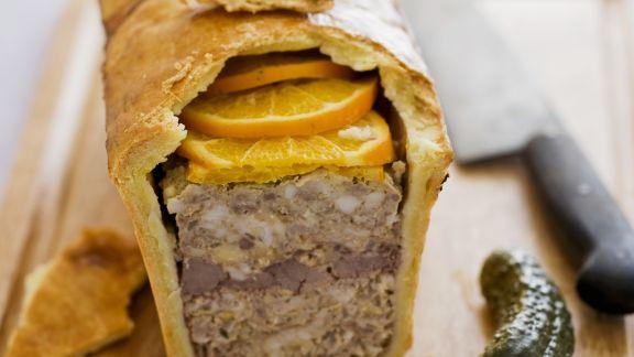 Rezept: Pastete mit Fleisch und Orangen