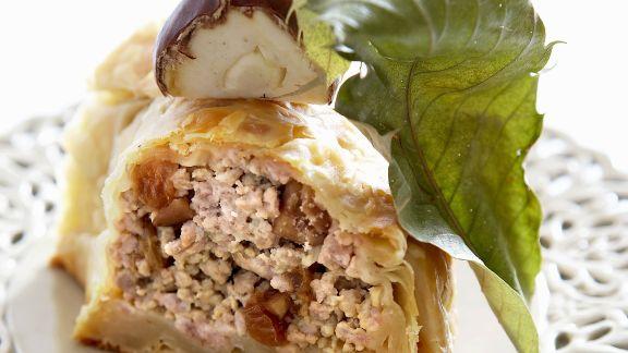 Rezept: Pastete mit Käse-Maroni-Füllung
