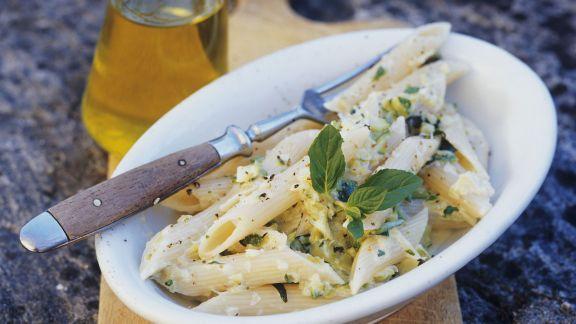 Rezept: Penne mit Zucchini und Käsesauce