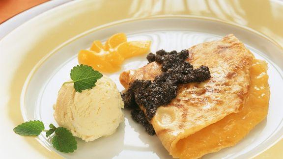Rezept: Pfannkuchen mit Aprikosenfüllung