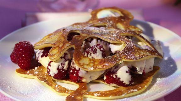 Rezept: Pfannkuchen mit Himbeeren