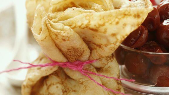 Rezept: Pfannkuchen mit Kirschen
