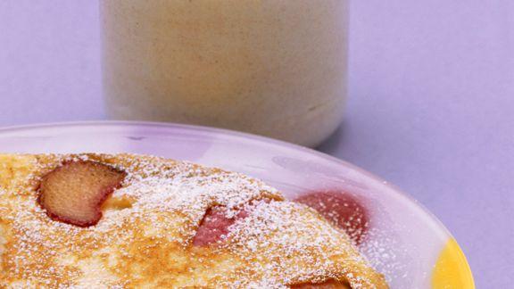 Rezept: Pfannkuchen mit Rhabarber