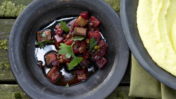 Rezept: Pfeffriges Auberginen-Ragout