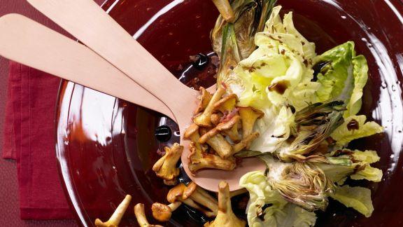 Rezept: Pfifferlingssalat mit Artischocken