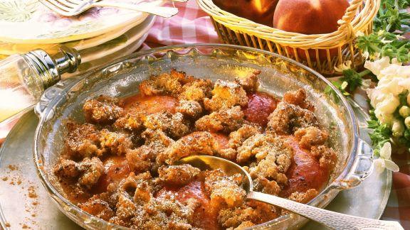 Rezept: Pfirsich-Auflauf auf amerikanische Art
