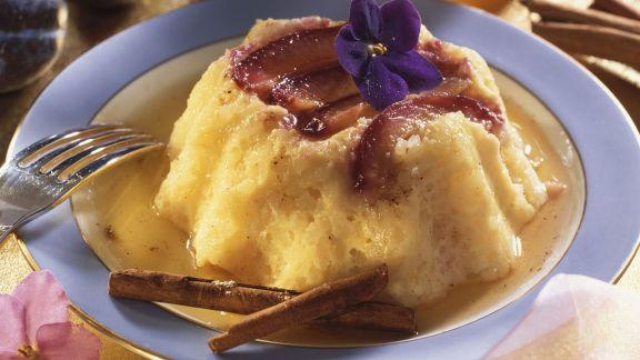 Rezept: Pflaumen-Reispudding mit Honigsoße