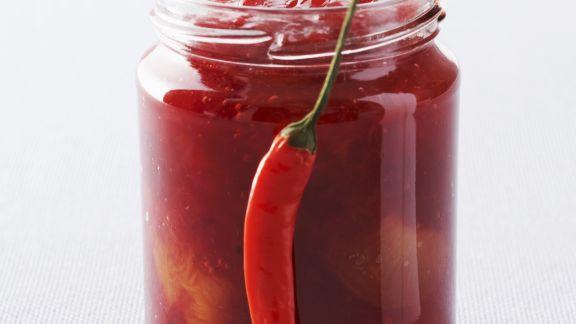Rezept: Pflaumenmarmelade mit Chili