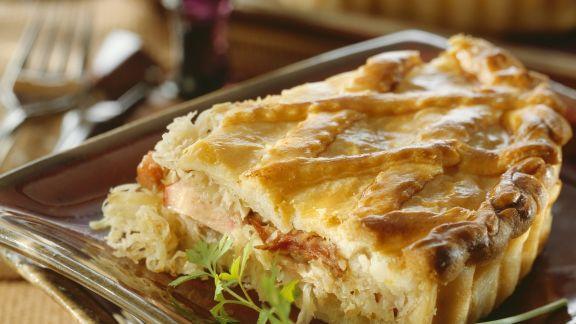 Rezept: Pie mit Kassler und Sauerkraut