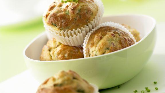 Rezept: Pikante Muffins mit Schinken