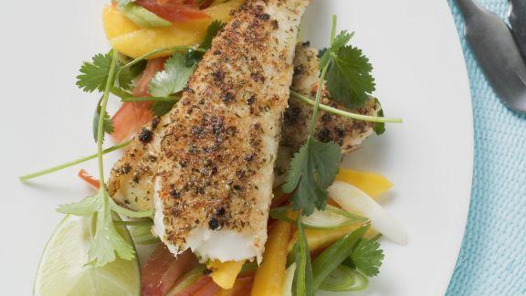 Rezept: Pikantes Pangasiusfilet mit Gemüse