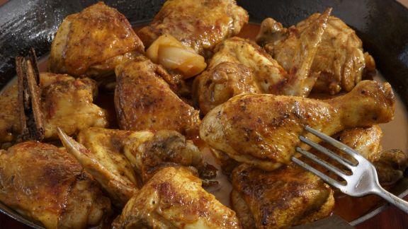 Rezept: Pikantes Sherry-Hähnchen auf marokkanische Art