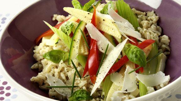 Rezept: Pilaw mit Gemüse und Parmesankäse