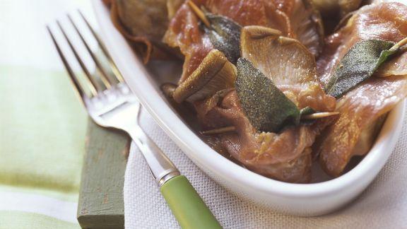 Rezept: Pilz-Saltimbocca