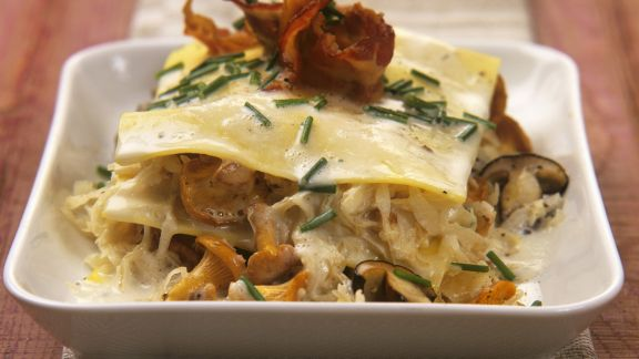 Rezept: Pilz-Sauerkraut-Lasagne