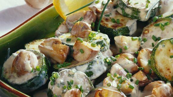 Rezept: Pilz-Zucchini-Gemüse