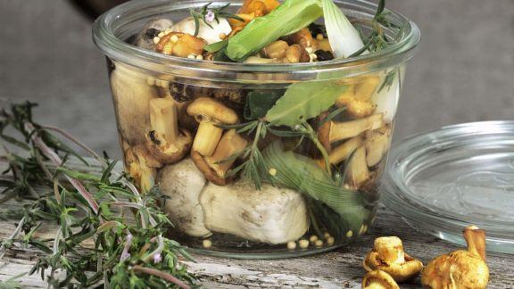 Rezept: Pilze in Marinade