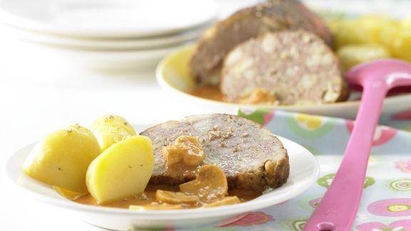 Rezept: Pilzhackbraten in Rahmsauce
