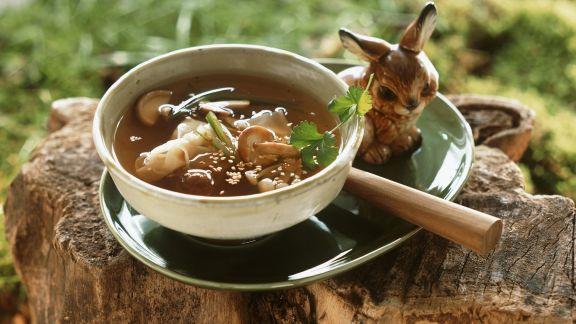Rezept: Pilzsuppe auf asiatische Art