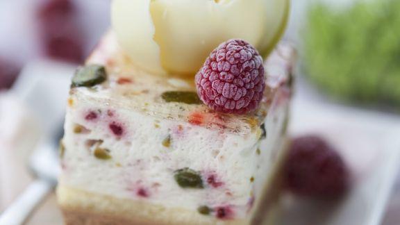 Rezept: Pistazien-Himbeer-Kuchen