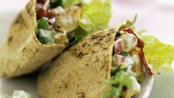 Rezept: Pita mit Hähnchensalat