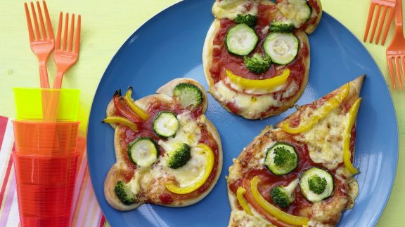 Rezept: Pizza-Gesichter