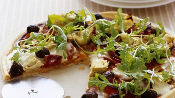 Rezept: Pizza mit Artischocken