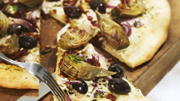 Rezept: Pizza mit Artischockenherzen