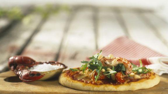 Rezept: Pizza mit Krebsen
