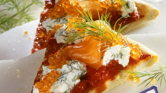 Rezept: Pizza mit Räucherlachs