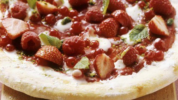 Rezept: Pizza mit roten Beeren