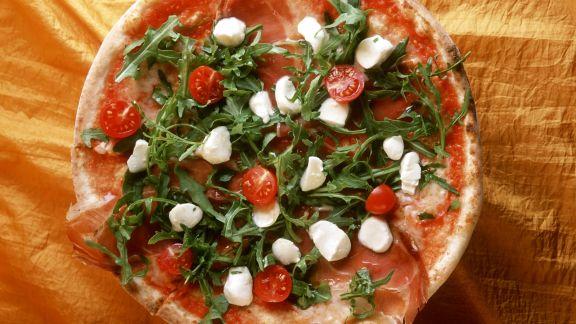 Rezept: Pizza mit Rucola